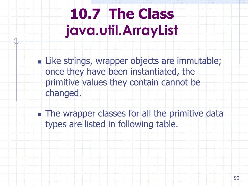 10.7  The Class