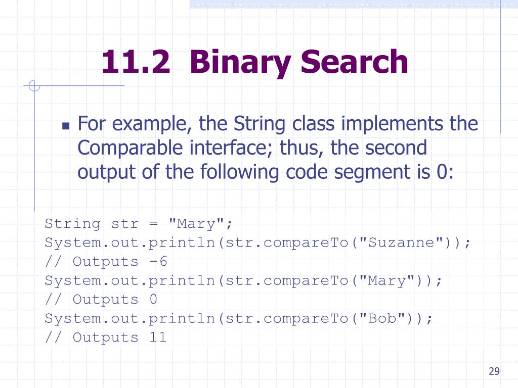 11.2  Binary Search