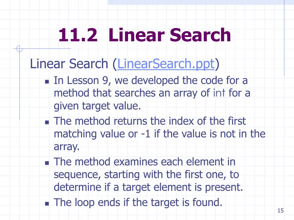 11.2  Linear Search