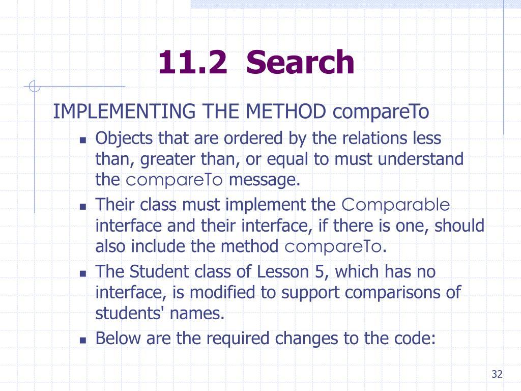 11.2  Search