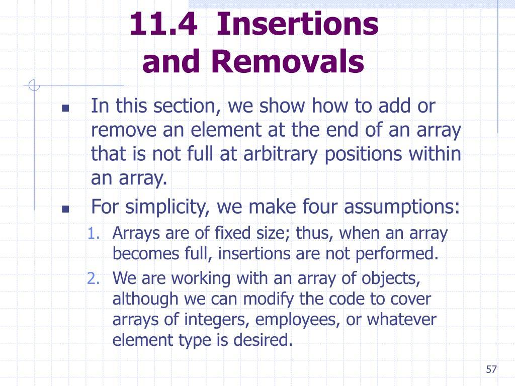 11.4  Insertions
