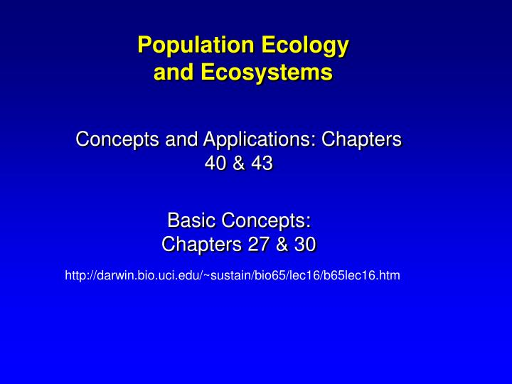 Population ecology and ecosystems l.jpg
