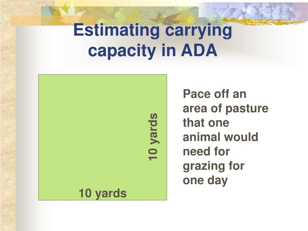 Estimating carrying capacity in ADA