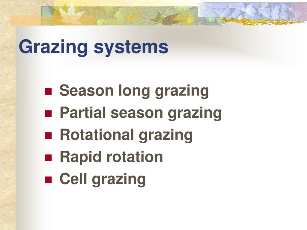 Grazing systems