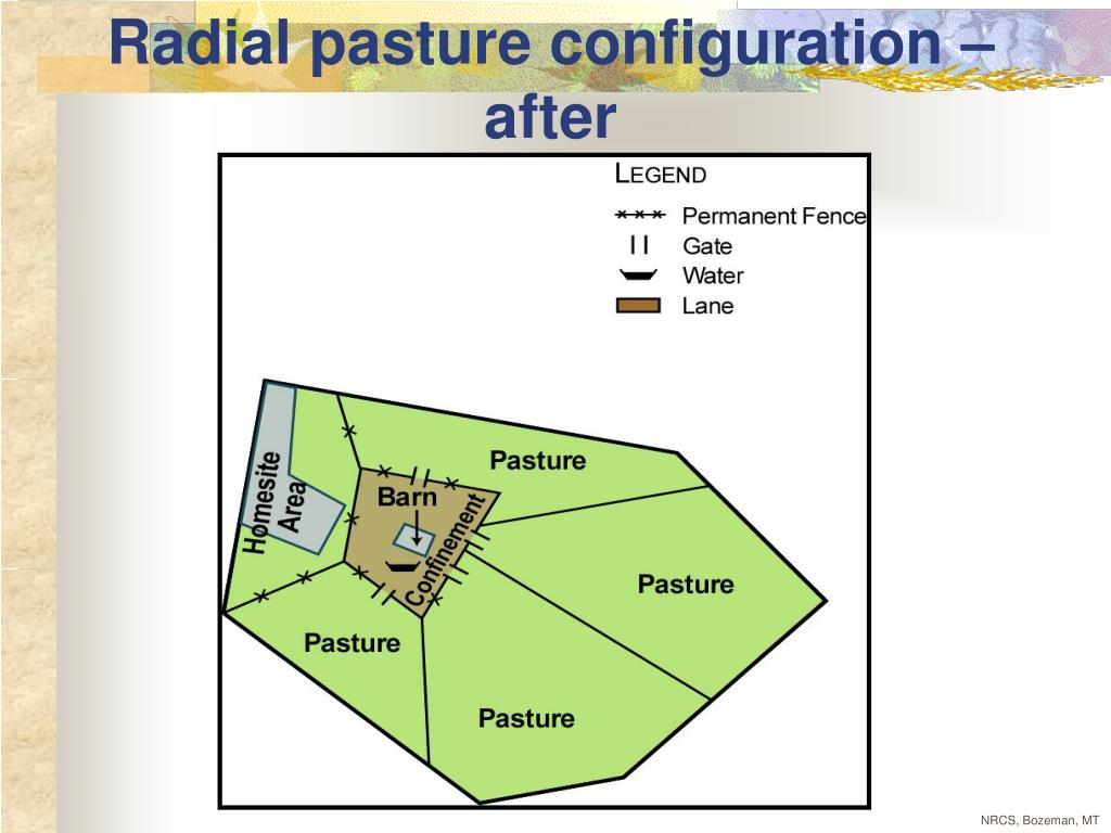 Radial pasture configuration – after