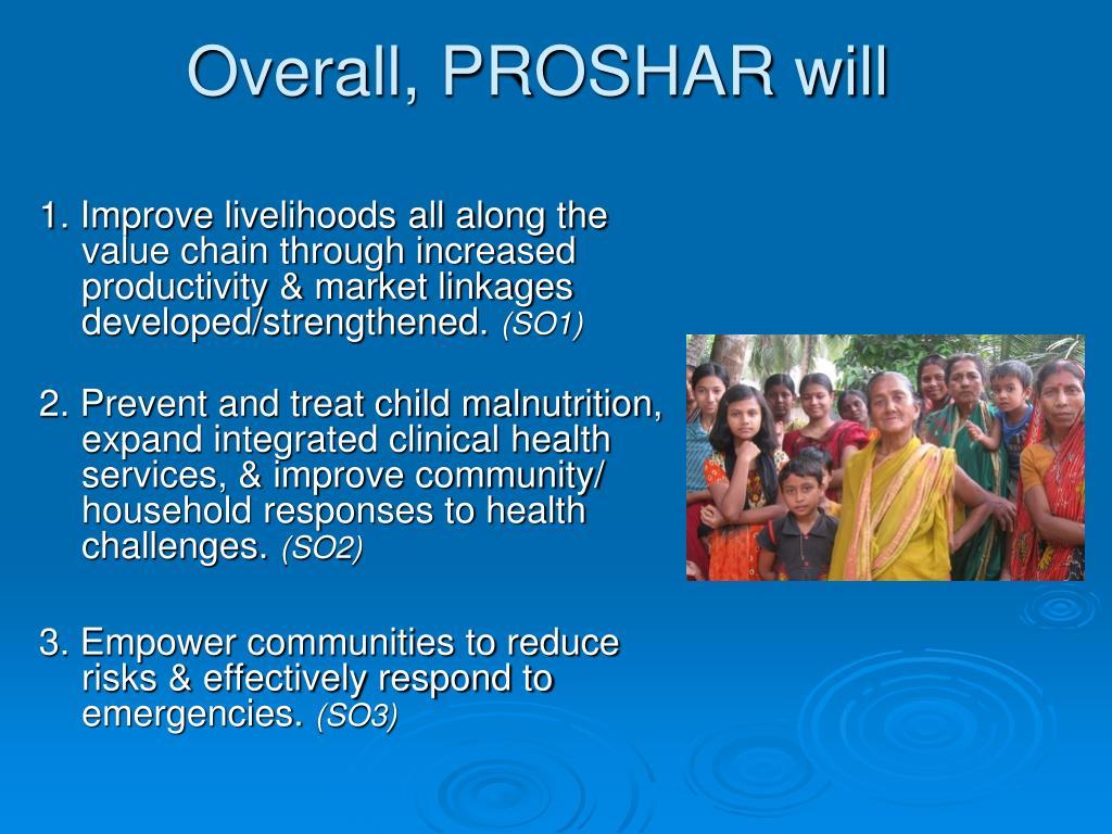 Overall, PROSHAR will