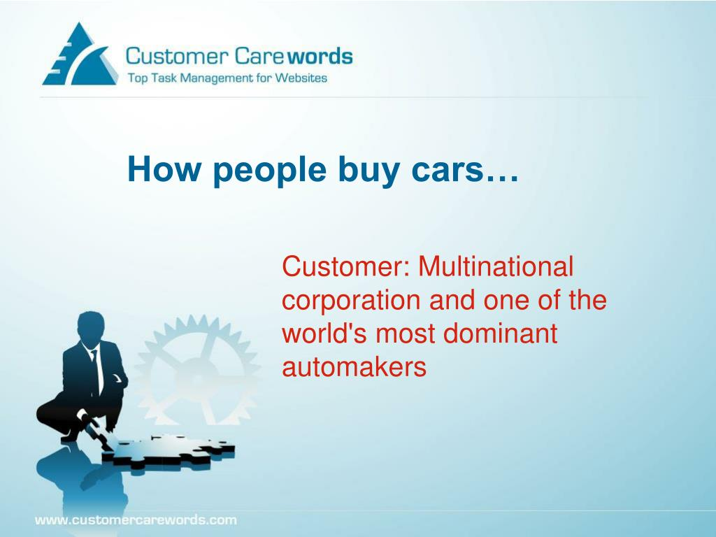 How people buy cars…