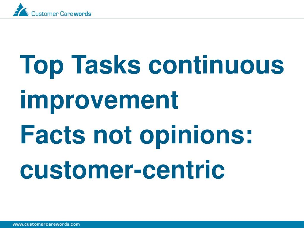 Top Tasks continuous improvement