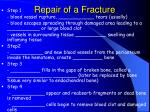 repair of a fracture