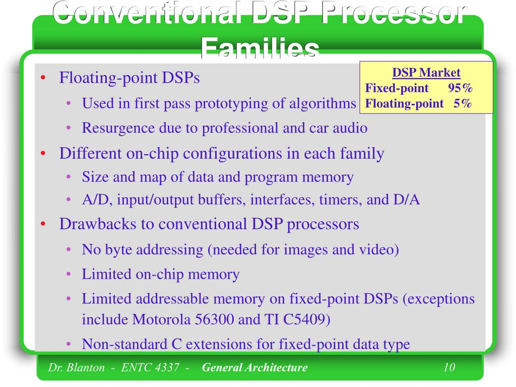 Conventional DSP Processor Families