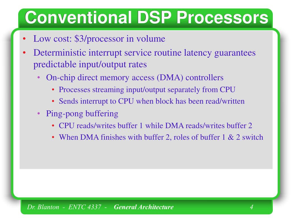 Conventional DSP Processors