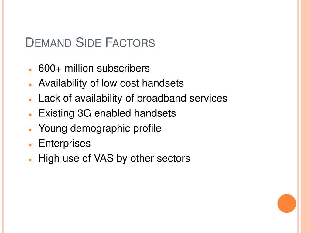 Demand Side Factors