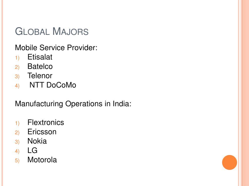 Global Majors
