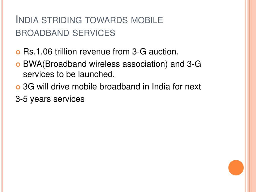 India striding towards mobile