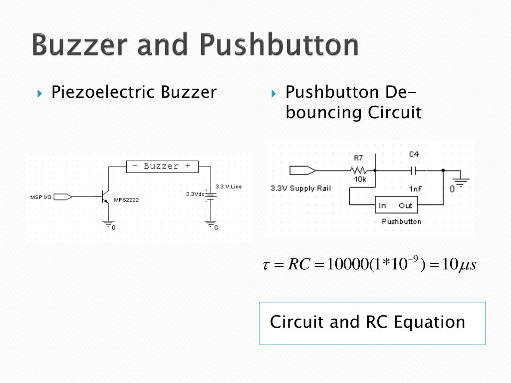 Buzzer and Pushbutton