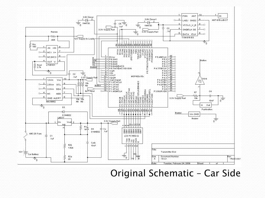 Original Schematic – Car Side
