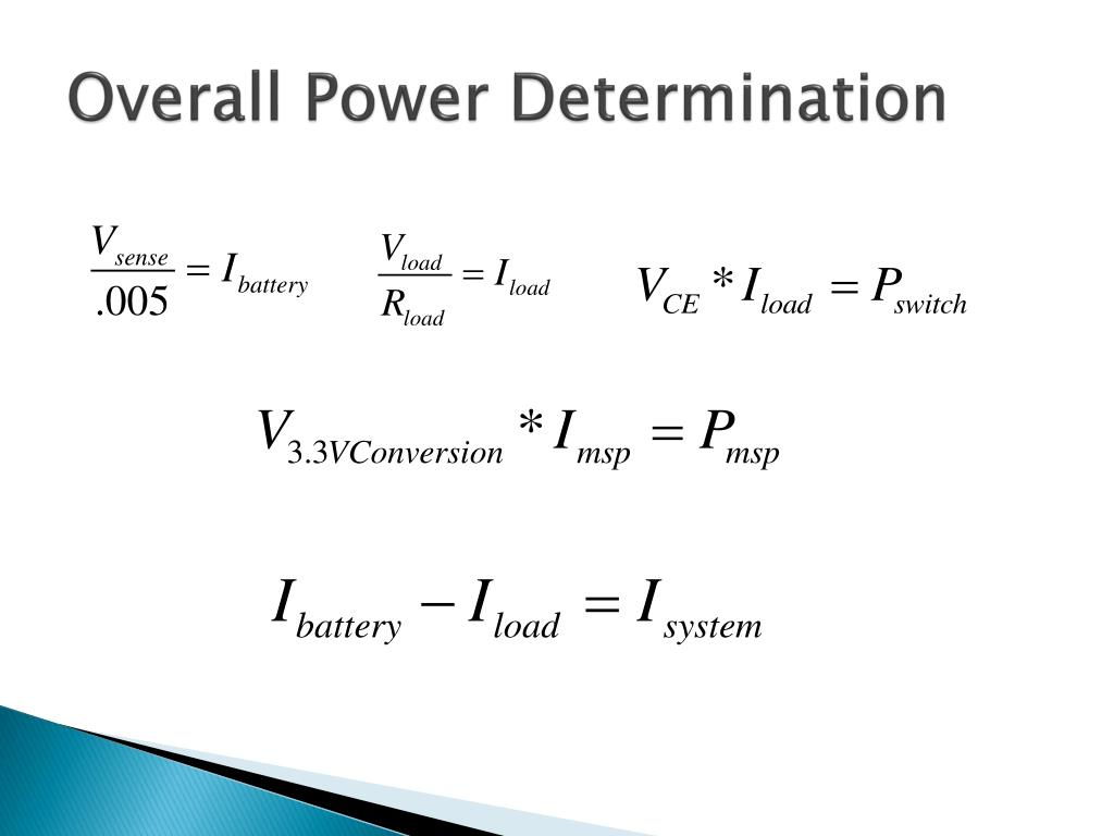 Overall Power Determination