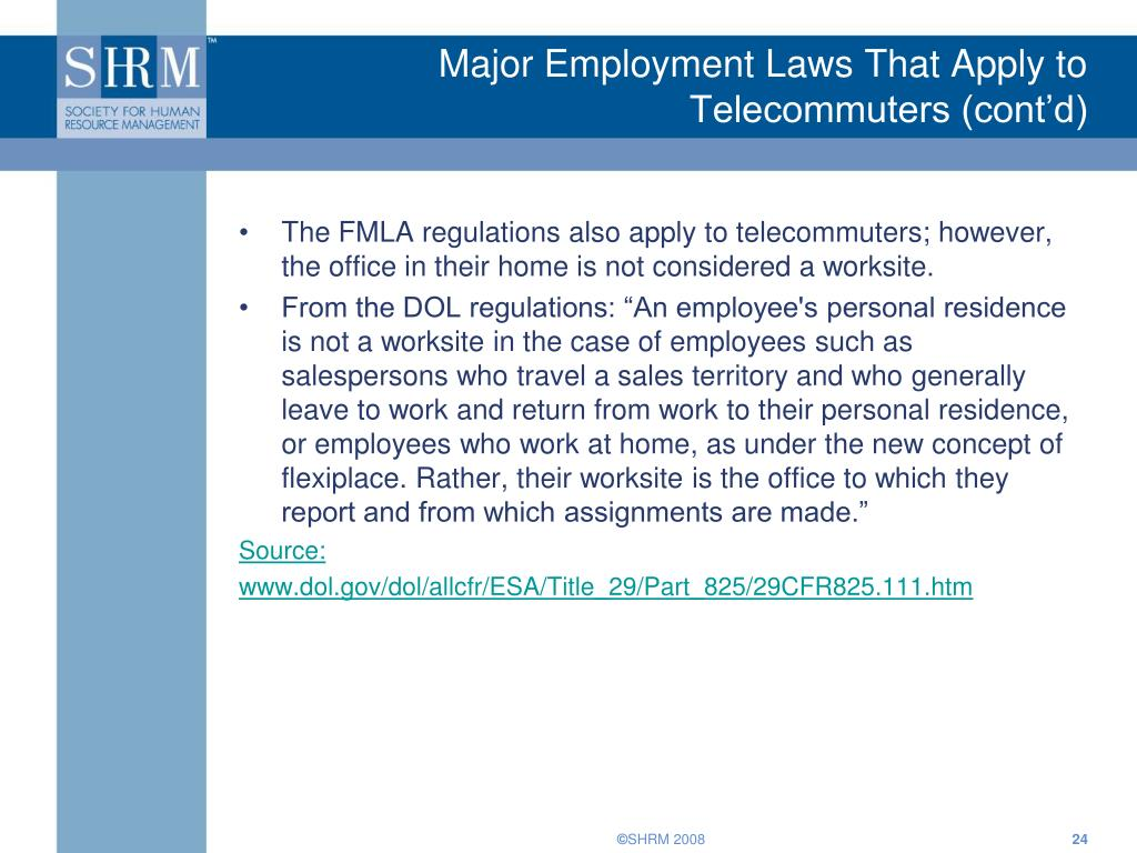 Major Employment Laws That Apply