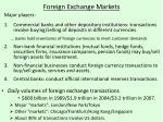 foreign exchange markets