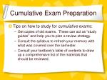 cumulative exam preparation