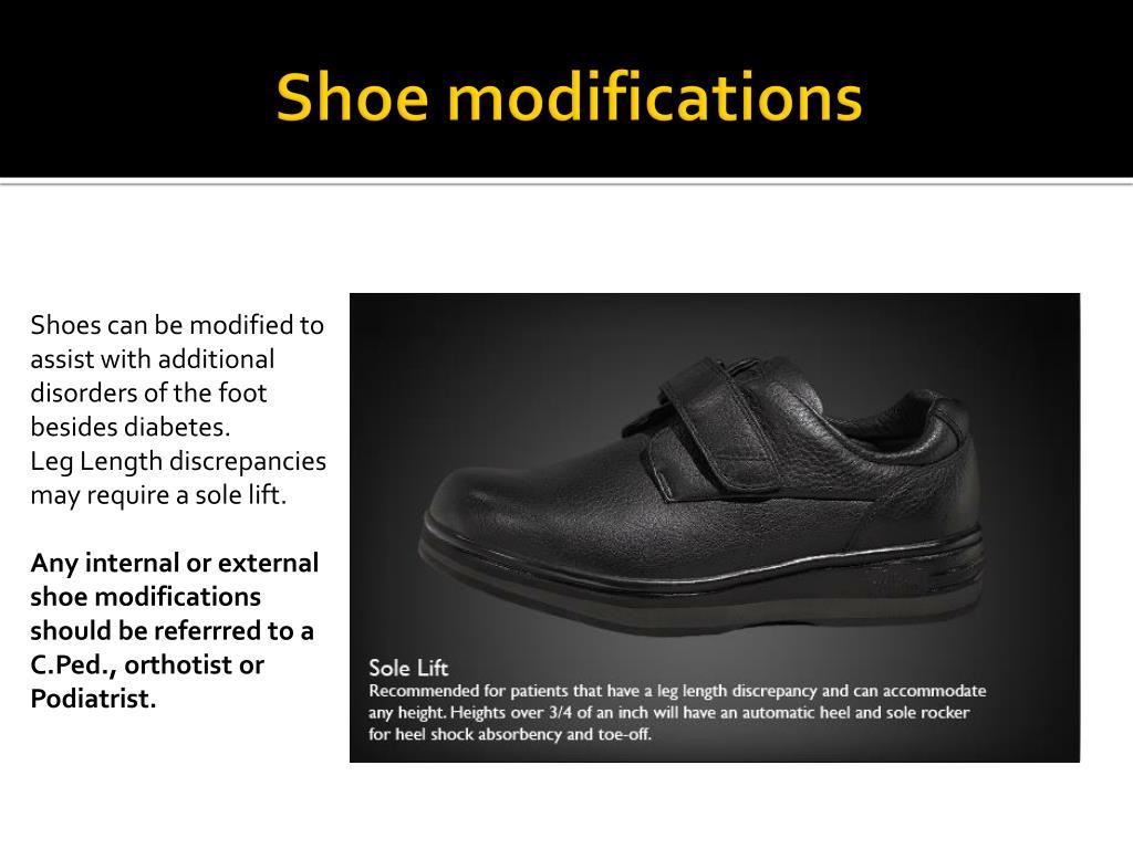 Shoe modifications