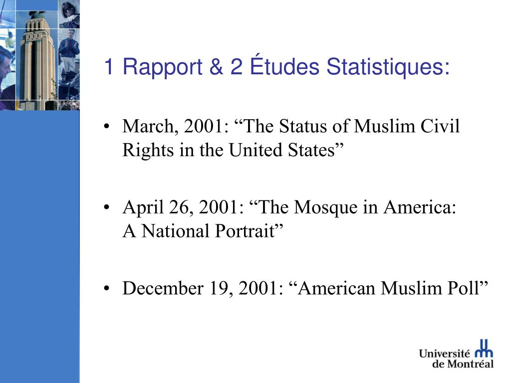 1 Rapport & 2 Études Statistiques: