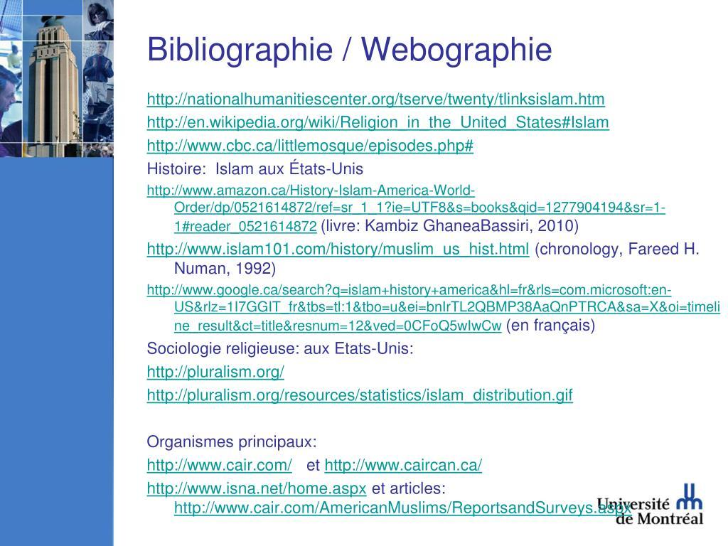 Bibliographie / Webographie