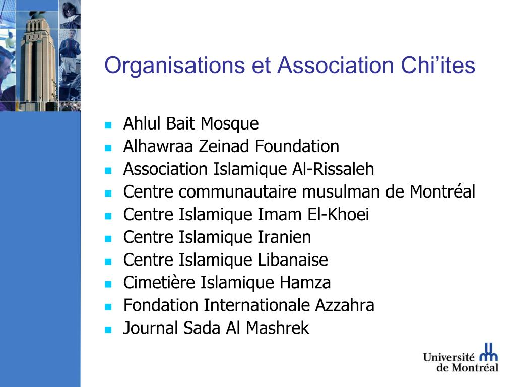 Organisations et Association Chi'ites