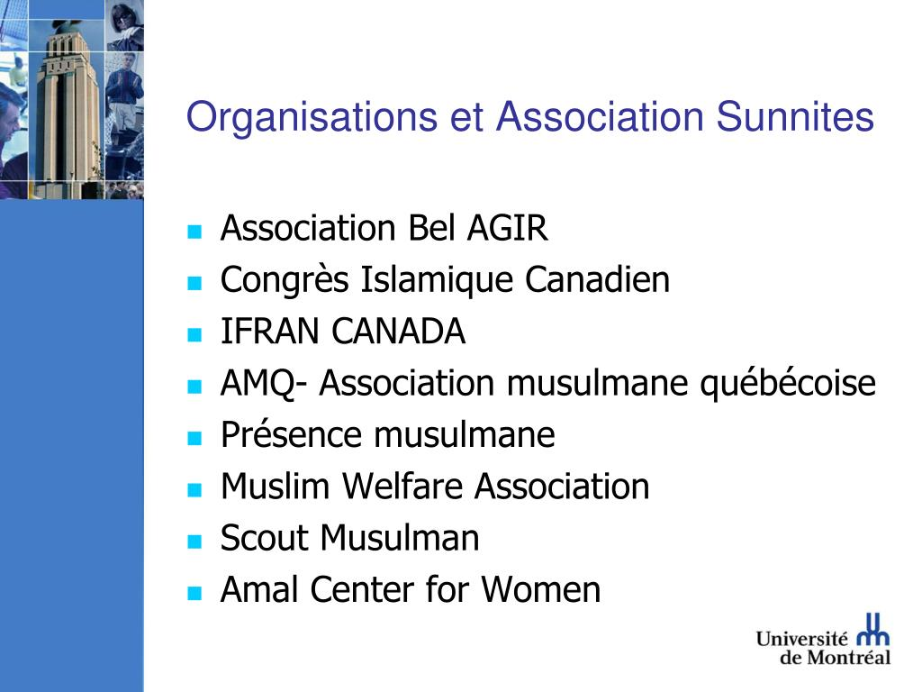 Organisations et Association Sunnites