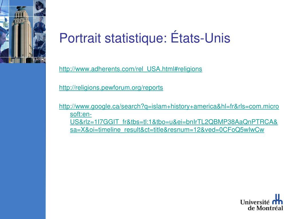 Portrait statistique: États-Unis