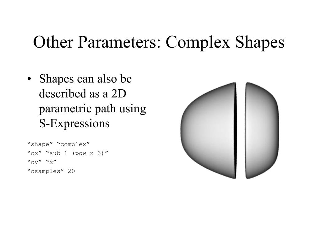 Other Parameters: Complex Shapes