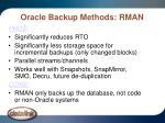 oracle backup methods rman10
