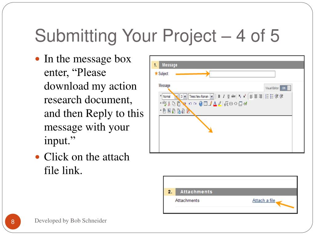 Submitting Your Project – 4 of 5