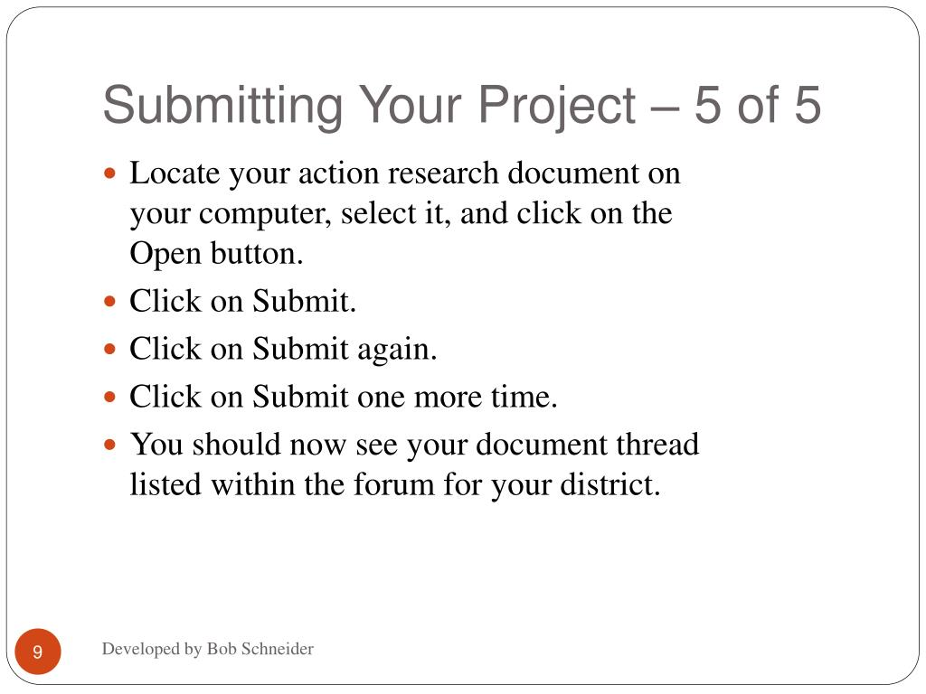 Submitting Your Project – 5 of 5