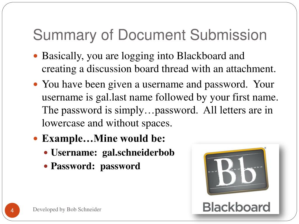Summary of Document Submission