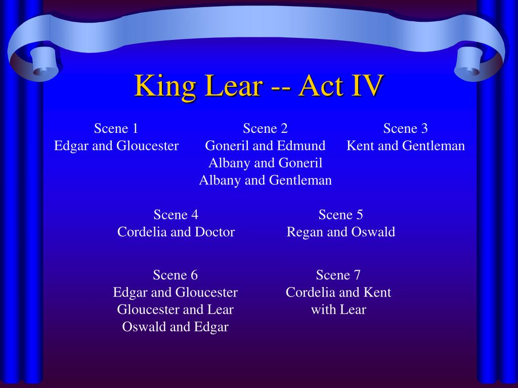 King Lear -- Act IV