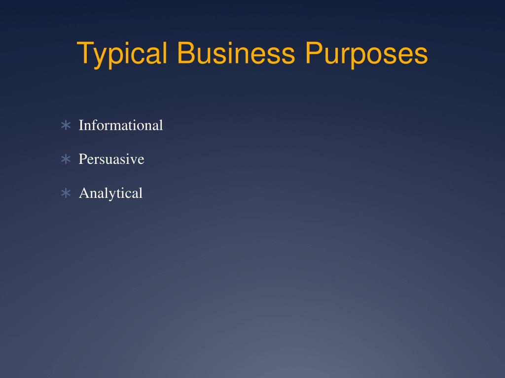 business purposes Updated 9/14/179/13/17 business purposes for expense reimbursement the business purpose is used to define the type of business conducted and to categorize the official.