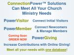 connection power solutions can meet all your church ministry needs