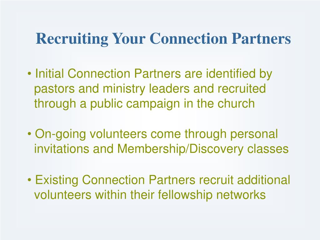 Recruiting Your Connection Partners