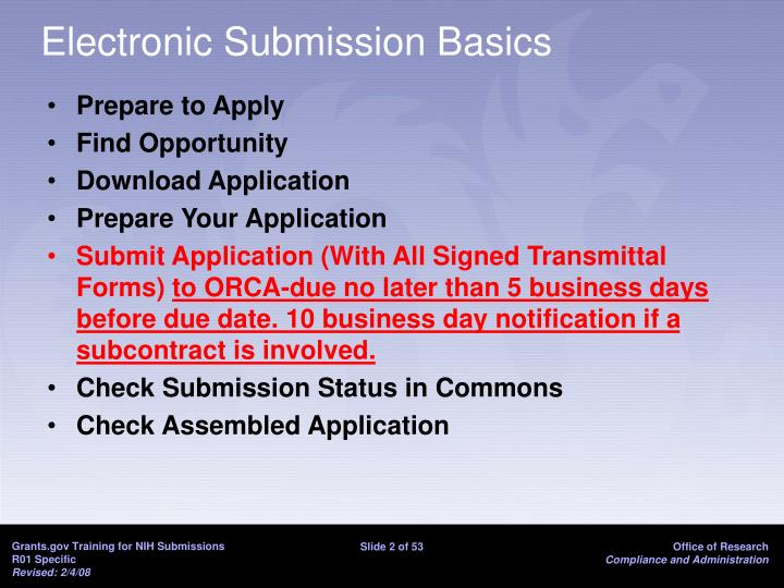 Electronic submission basics l.jpg