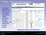 pi view check assembled application