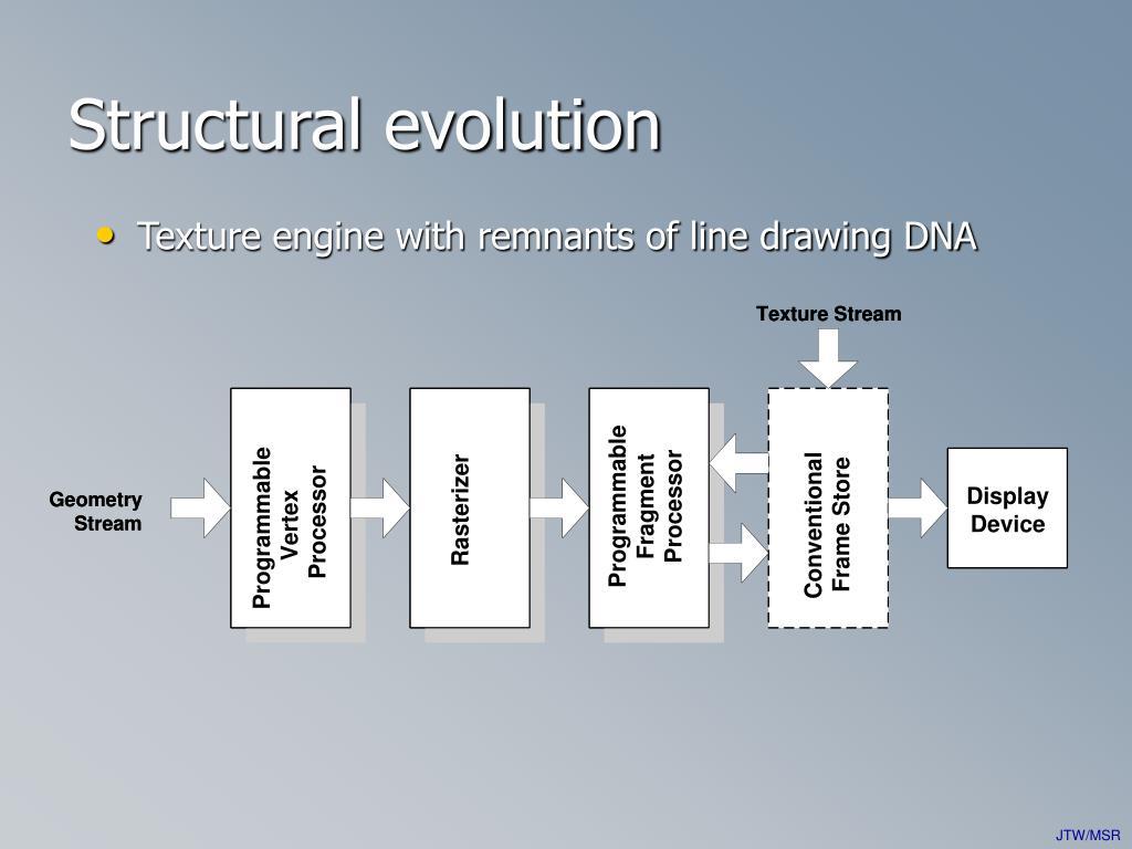 Structural evolution