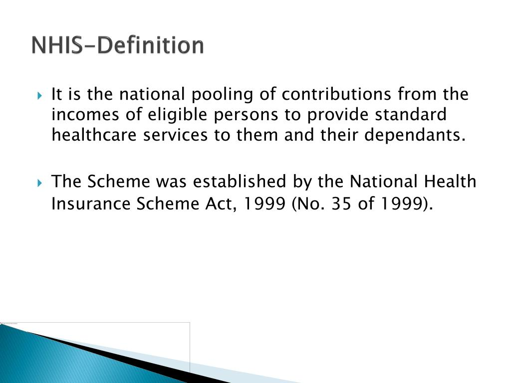 ppt   national health insurance scheme nhis powerpoint presentation   id 525943