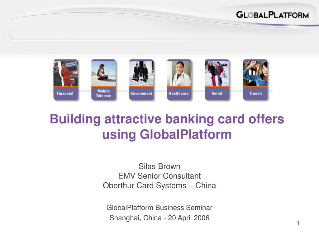 Building attractive banking card offers using GlobalPlatform