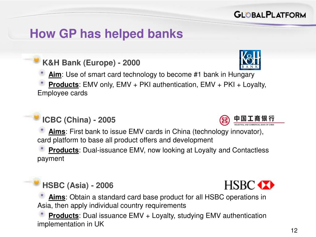 How GP has helped banks
