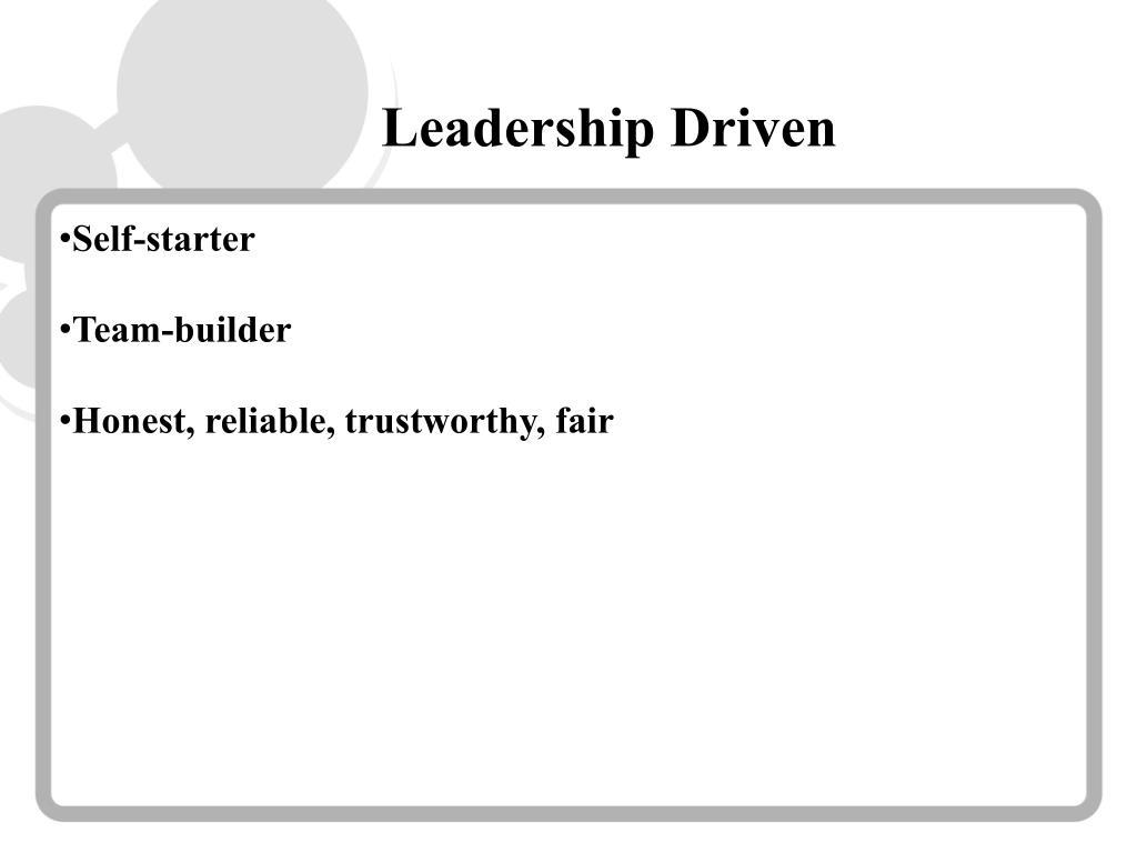 Leadership Driven