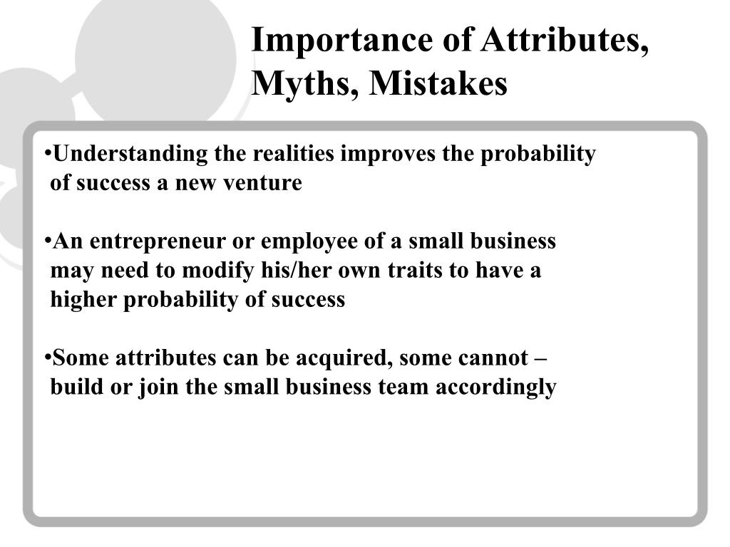 Importance of Attributes, Myths, Mistakes