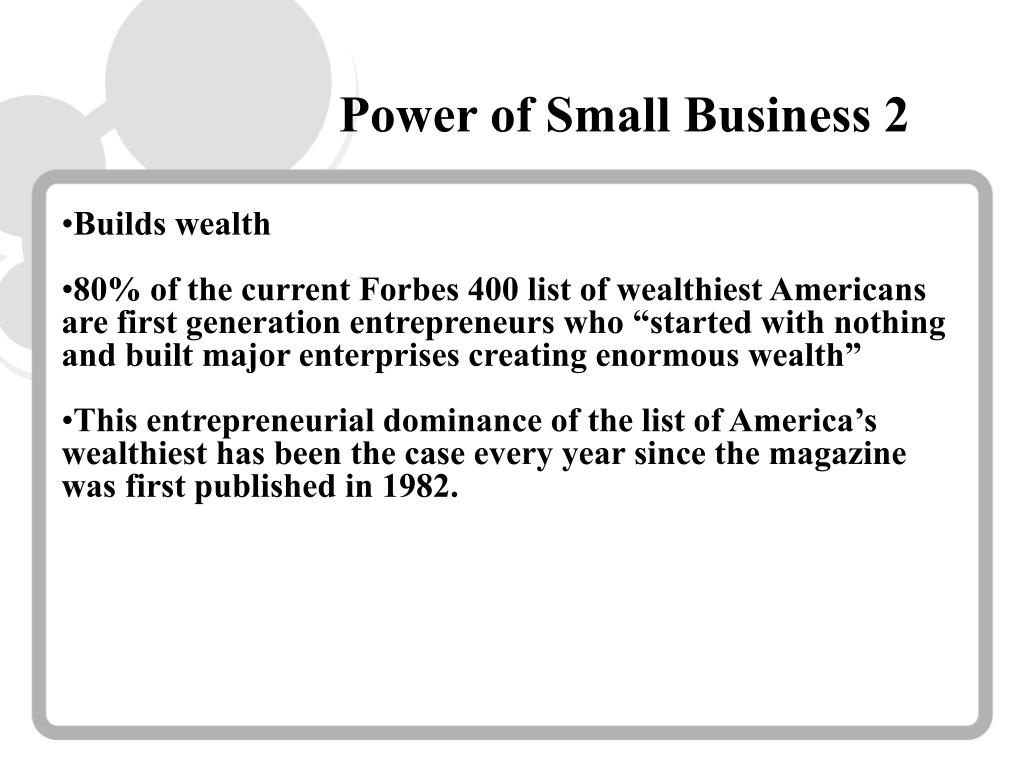 Power of Small Business 2