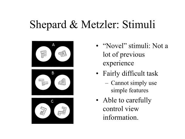 Shepard & Metzler: Stimuli