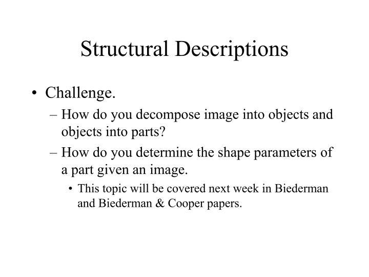 Structural Descriptions